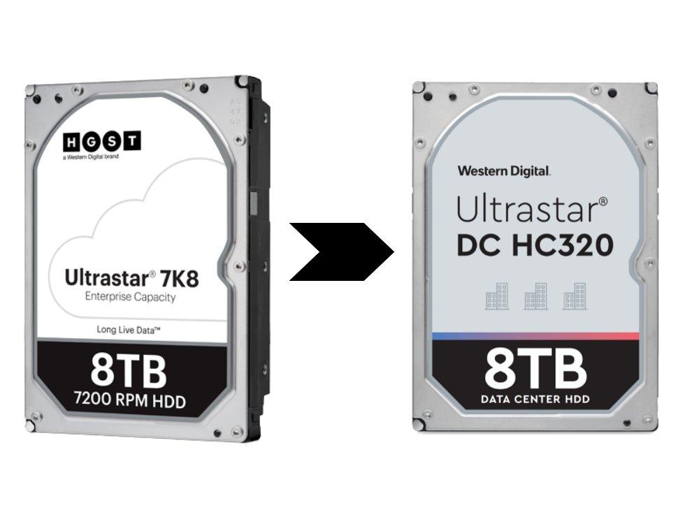 Aus HGST Ultrastar 7K8 wurde Western Digital Ultrastar DC HC320