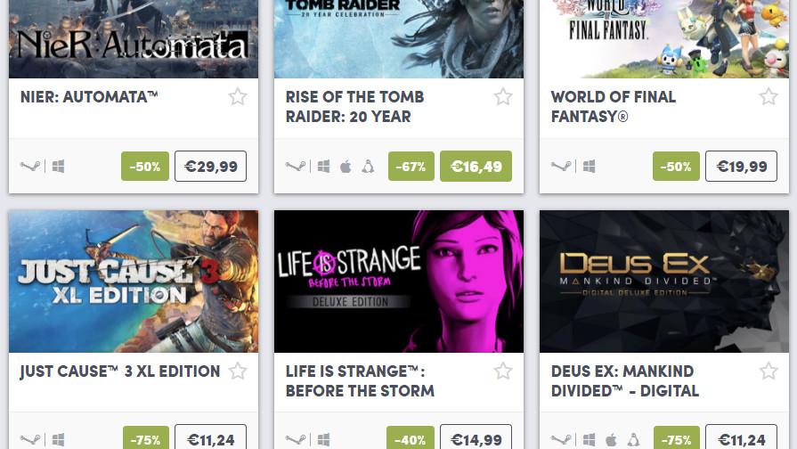 Humble Bundle: Titel von Square Enix eine Woche im Angebot