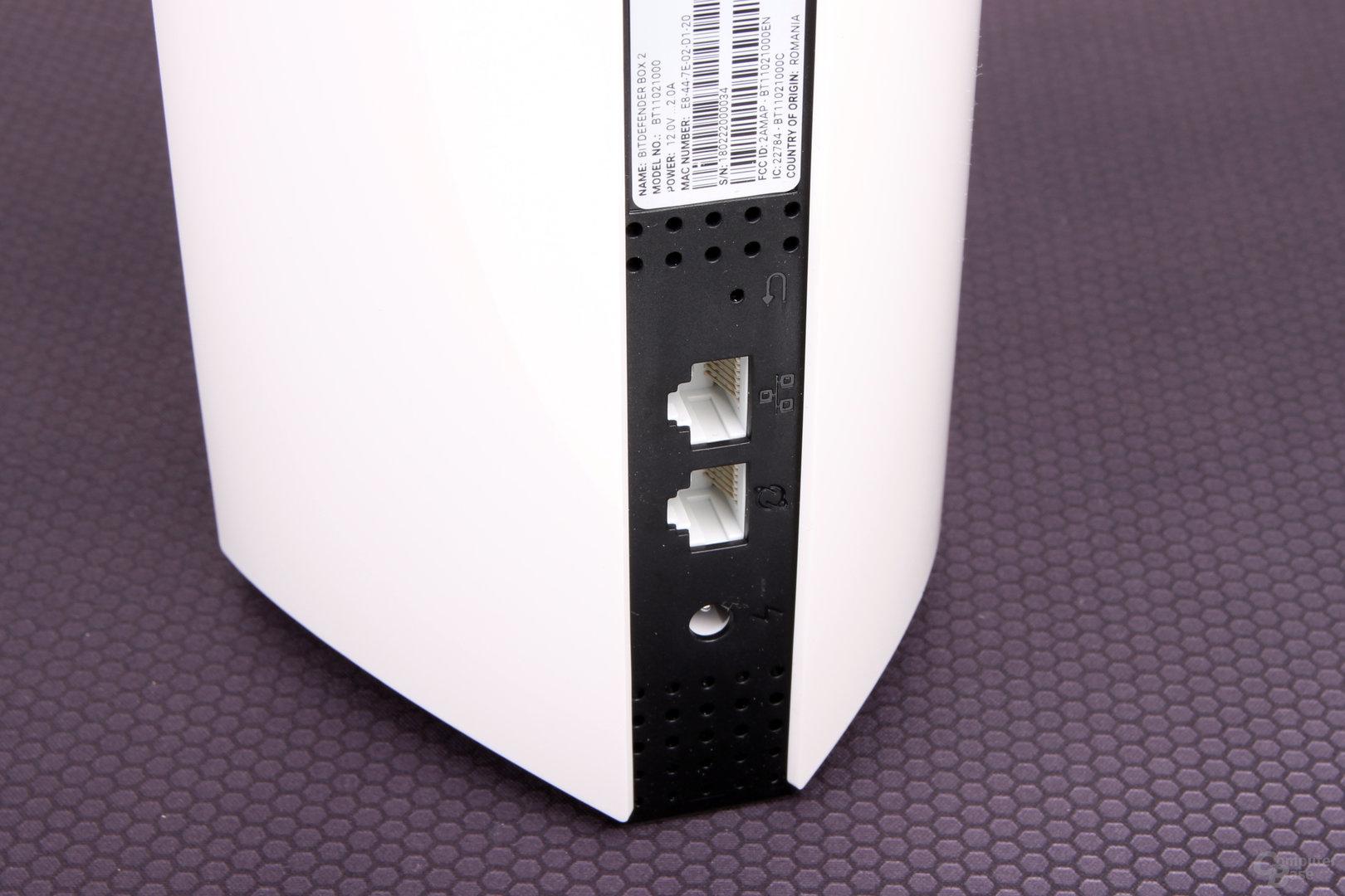 Bitdefender Box – WAN, LAN und Strom