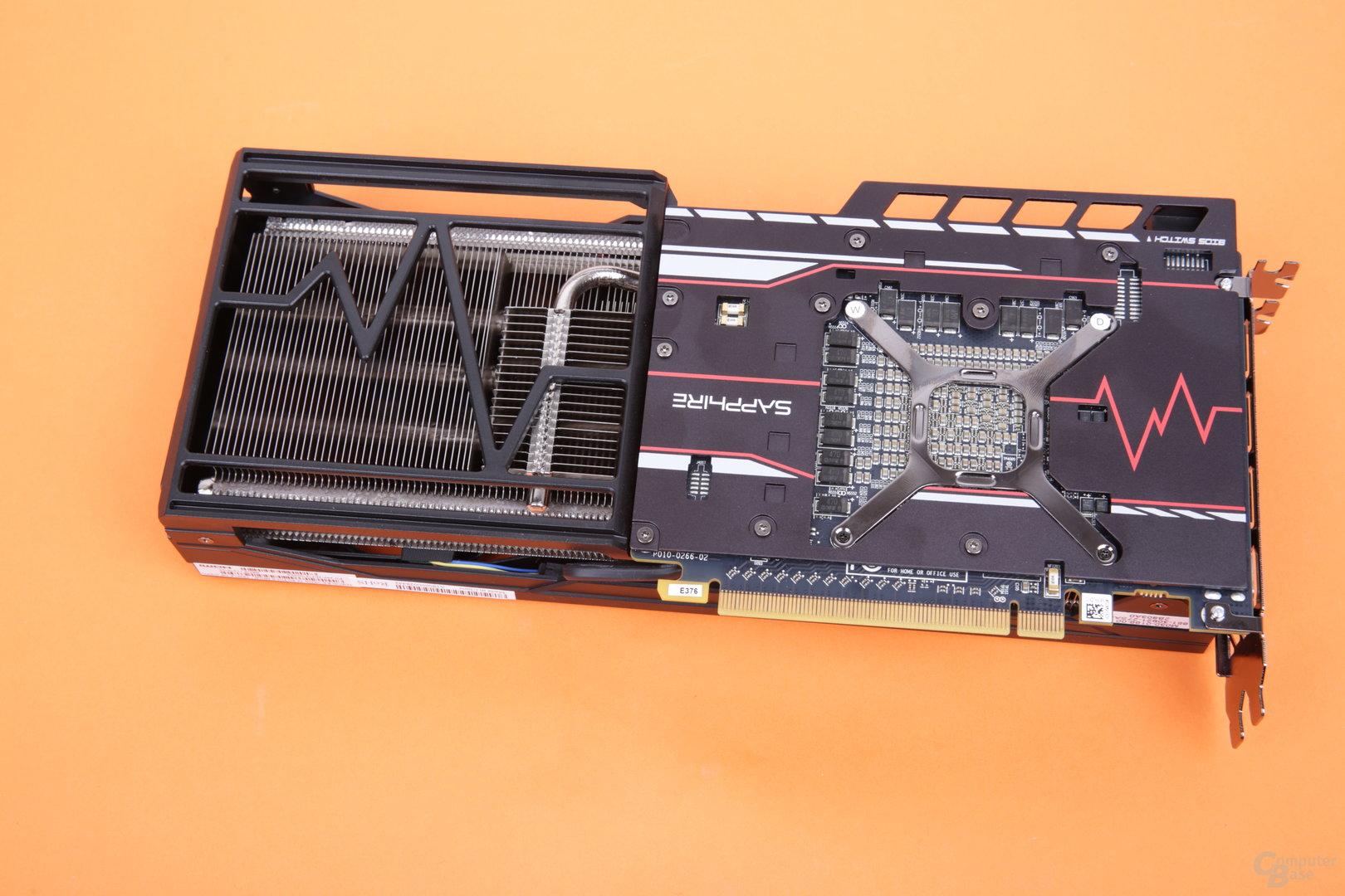 Sapphire Radeon RX Vega 56 Pulse – die Rückseite