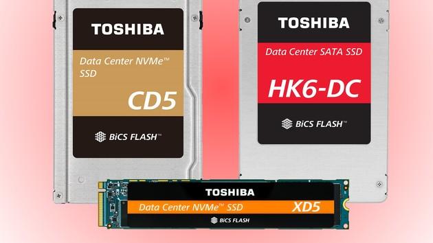 Toshiba: Drei sehr verschiedene BiCS3-Flash-SSDs fürs Data Center