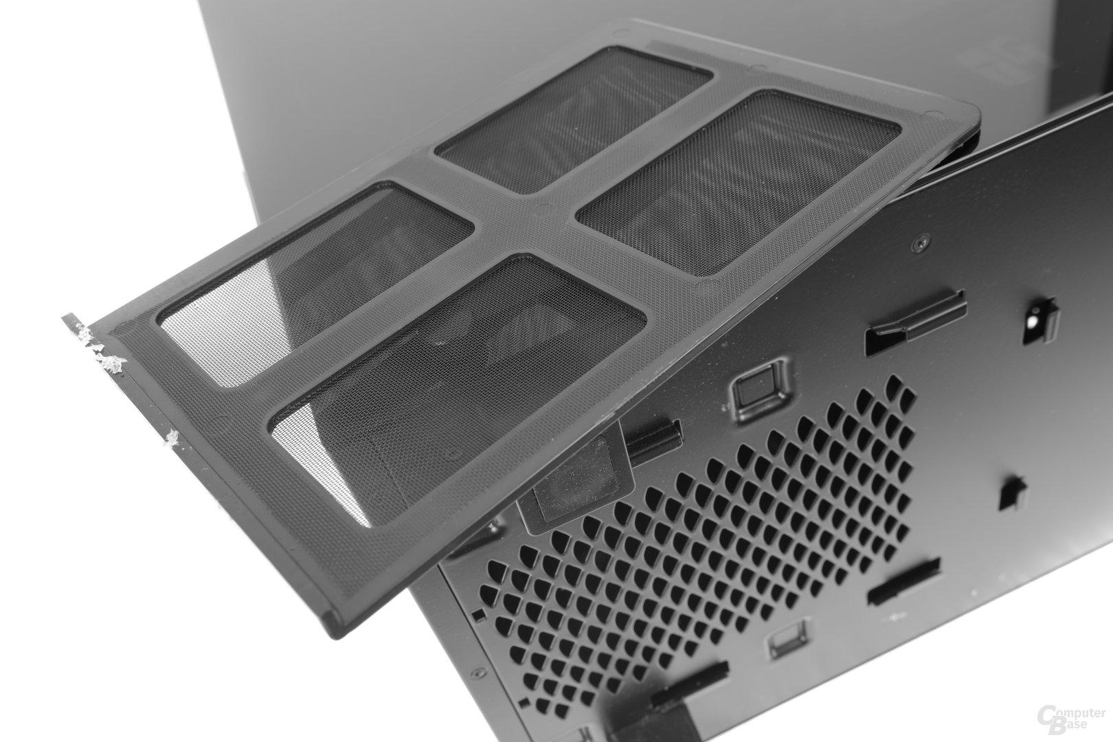 Deepcool New Ark 90 – Netzteilstaubfilter entfernt