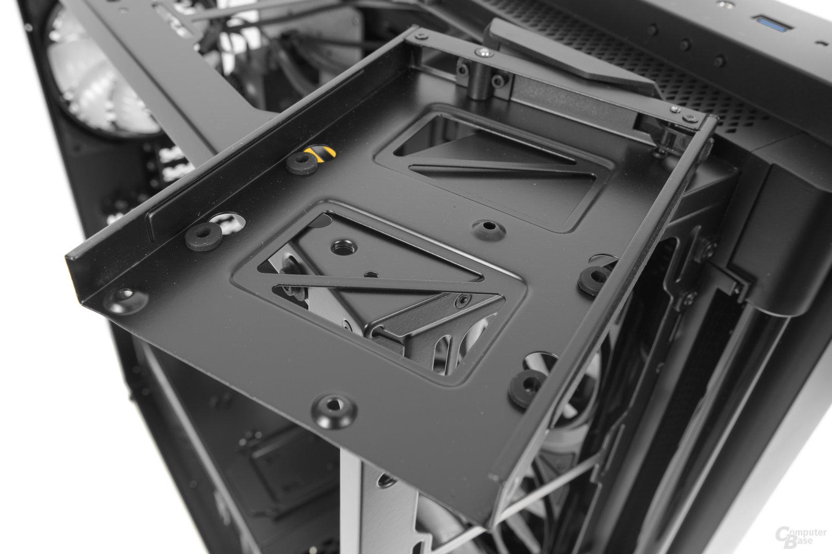 Deepcool New Ark 90 – Festplattenschiene im Detail