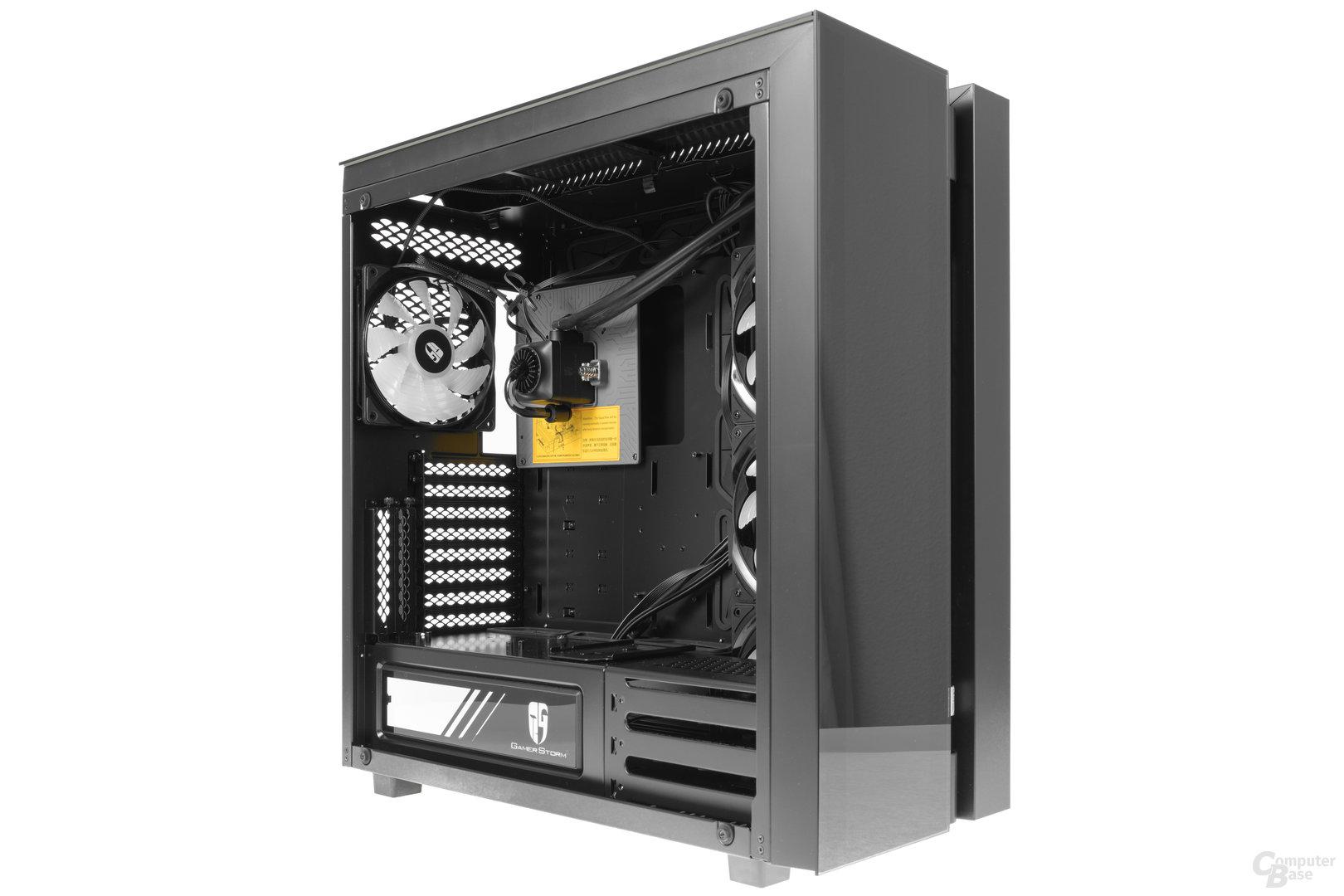 Deepcool New Ark 90 – Seitliche Innenraumansicht