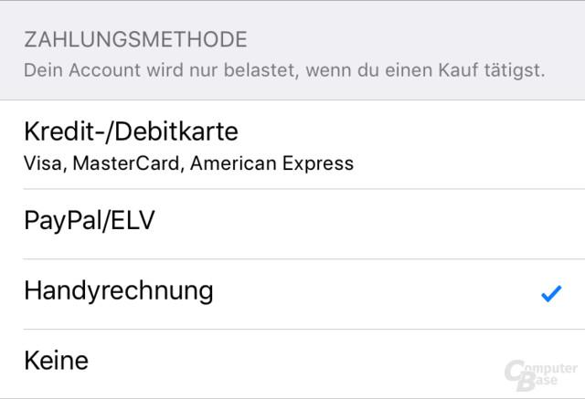 apple bezahlen per handyrechnung bei deutscher telekom aktiv computerbase. Black Bedroom Furniture Sets. Home Design Ideas