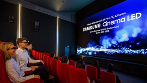 Samsung Cinema LED: Schweiz nimmt helles 3D-Kino ohne Projektion in Betrieb