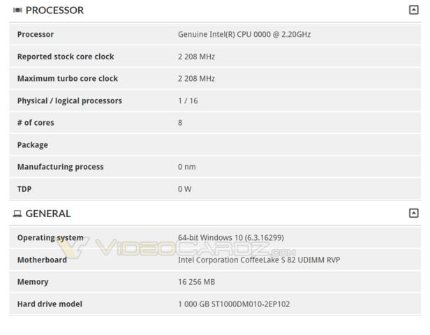 Neuer Hinweis auf 8-Kern-CPU auf Basis von Coffee Lake