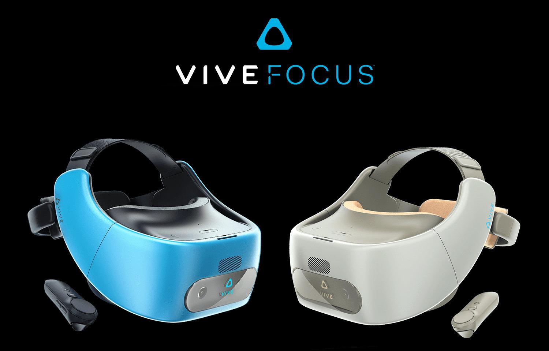 HTC Vive Focus in Blau und Charm Weiß