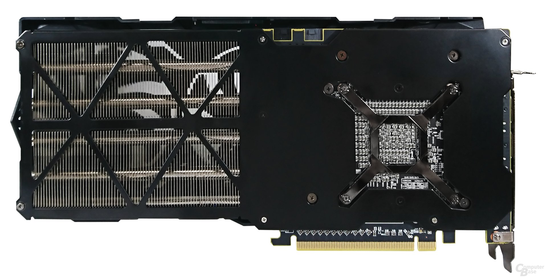 Die Rückseite der PowerColor Radeon RX Vega 56 Red Dragon