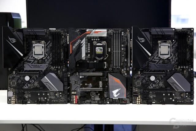 Intel H370 und B360 von Asus und Gigabyte im Test