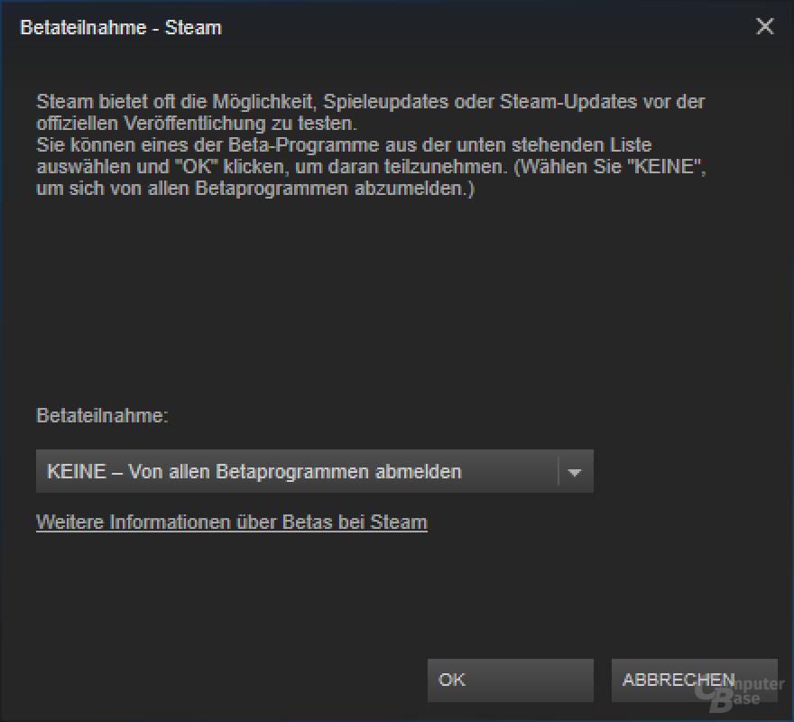 Alte Steam-Version auf einem UHD-Monitor mit 150 Prozent Windows-Zoom