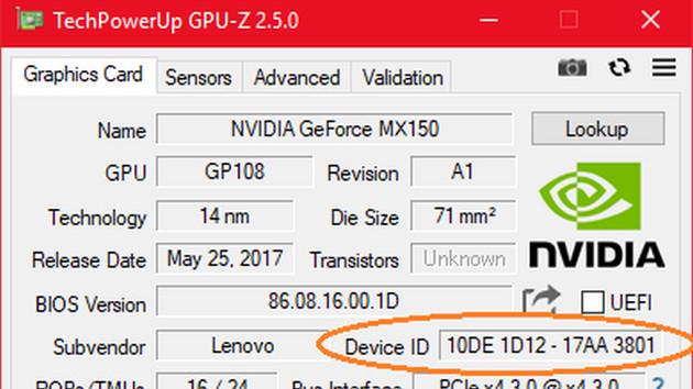 Notebook-GPU: Gedrosselte GeForce MX150 ist deutlich langsamer