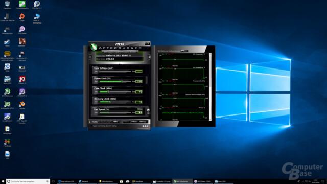 In Anno 2205 (UHD) liegt die GeForce GTX 1080 Ti bei rund 1.900 MHz