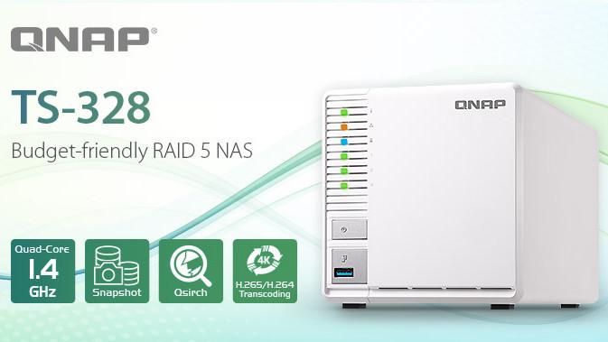 TS-328: QNAPs RAID-5-NAS mit Quad-Core kostet 268 Euro