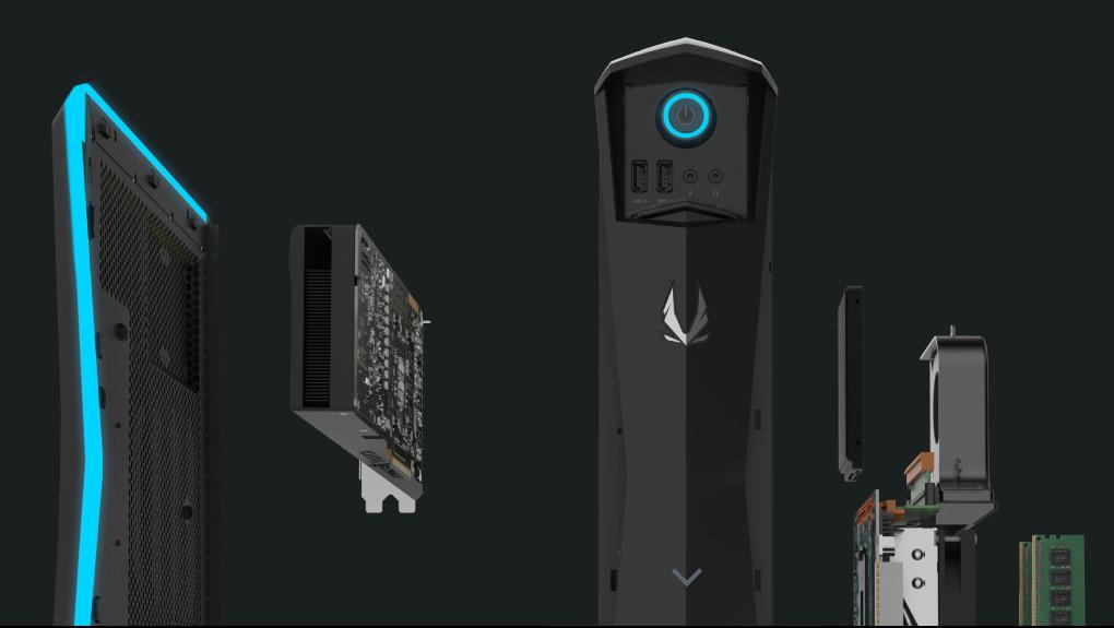 Zotac MEK1: Schlanker Gaming-PC mit GeForce GTX 1070 Ti verfügbar