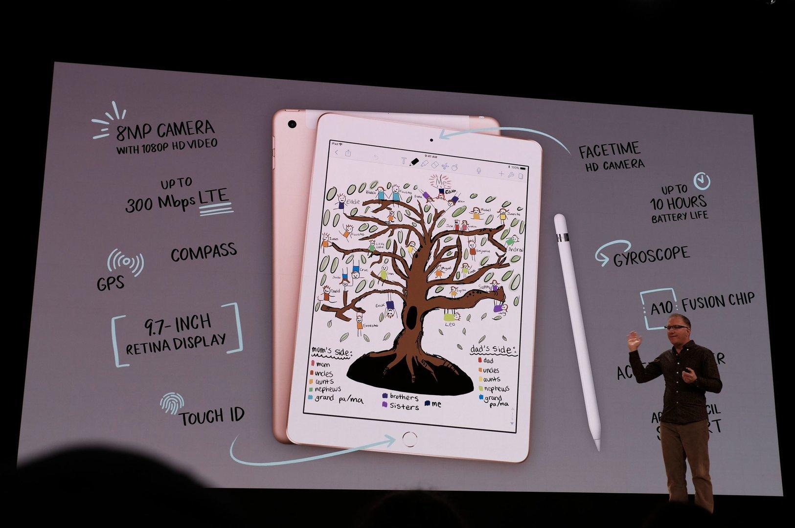 apple ipad 9 7 2018 mit unterst tzung f r apple pencil. Black Bedroom Furniture Sets. Home Design Ideas