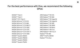 Liste aller empfohlenen Grafikkarten