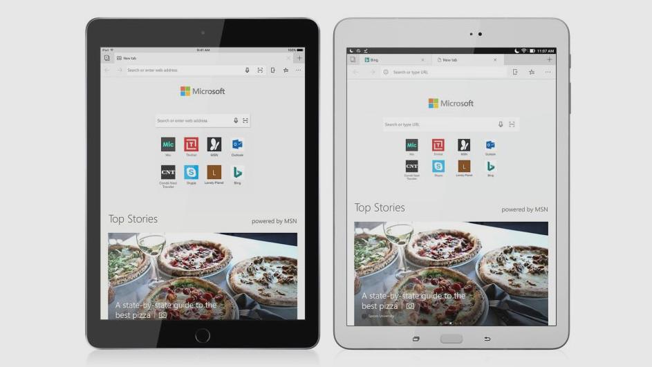 Jetzt verfügbar: Microsoft Edge für Android-Tablets und iPad