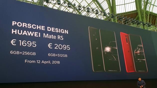 Huawei Mate RS: Porsche-Design-Smartphone kostet 2.095 Euro mit 512 GB