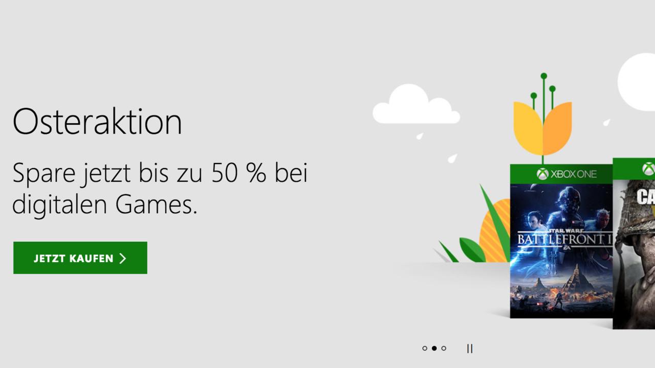 Osteraktion: Microsoft lockt mit Rabatten im Xbox Store