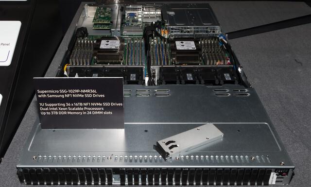 Storage-Server von Supermicro mit 36 NF1-Einschüben
