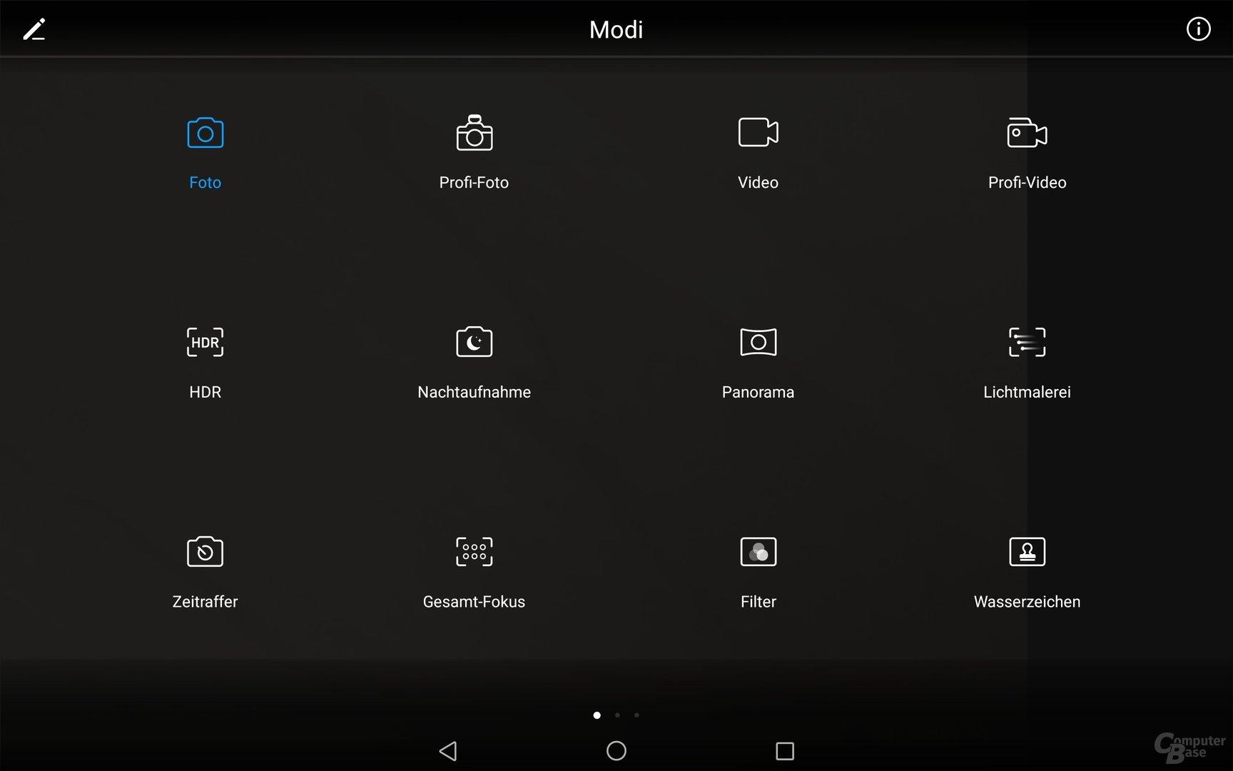 Die Kamera-App beherbergt zahlreiche Einstellungen