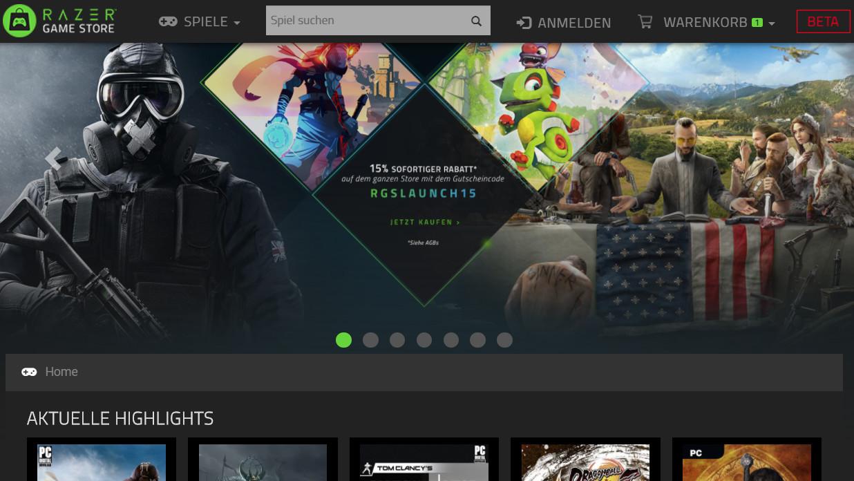 Razer Game Store: Peripherie-Hersteller verkauft nun Spiele digital