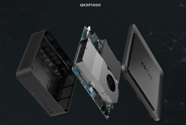QK5P1000 mit GPU-Lüfter
