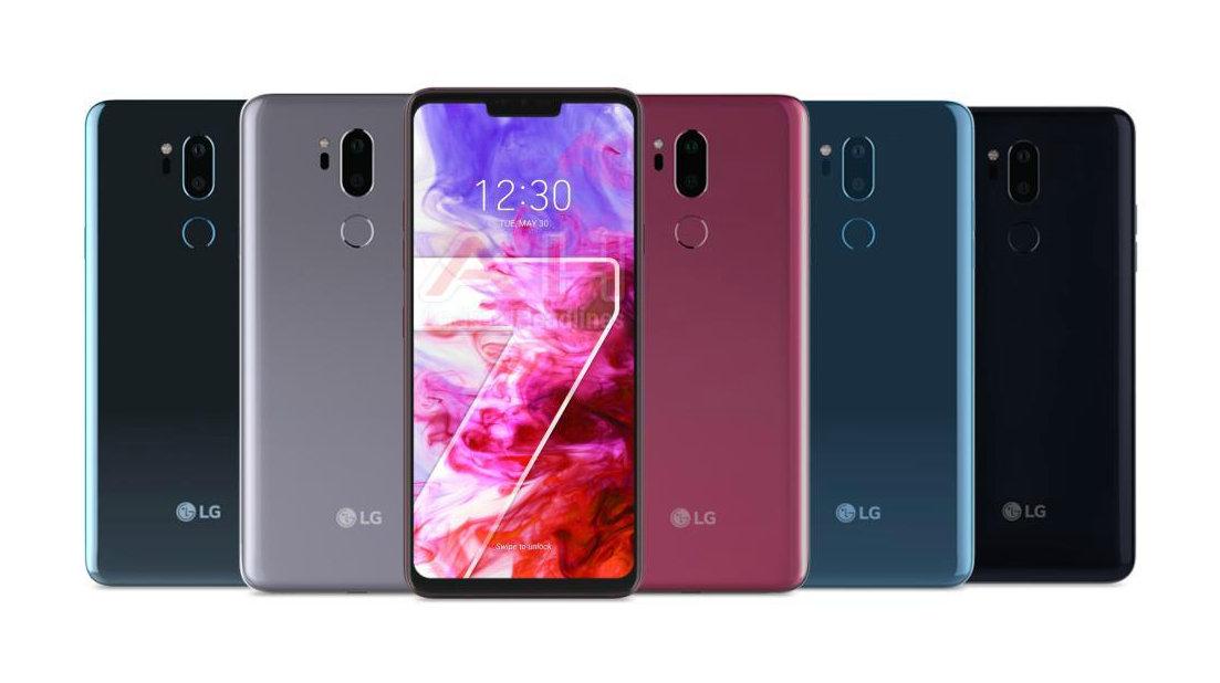 Angebliche offizielles Rendering des LG G7 ThinQ