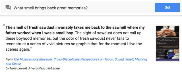 Beispiel-Frage und -Antwort zu Google Talk to Books