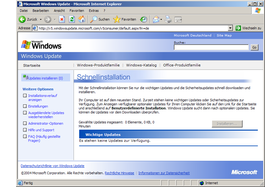 Windows Update Version 5 - Benutzerdefinierte Installation