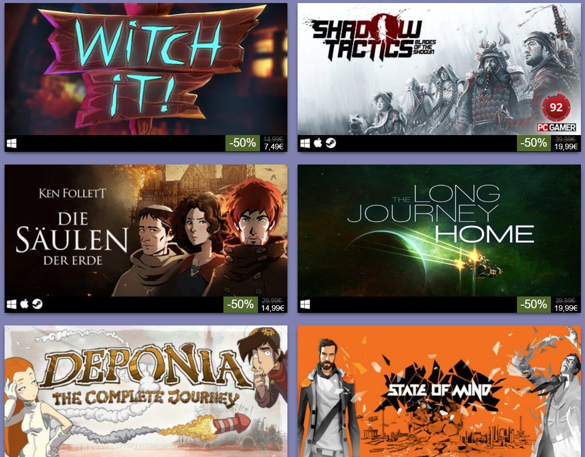 Daedalic Publisher Weekend auf Steam