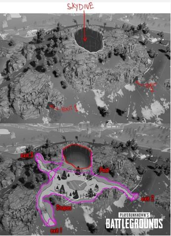 Die kommende PUBG-Map Savage soll eine Höhle mit direktem Zugang aus der Luft bieten