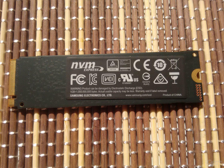 Samsung 970 Rückseite