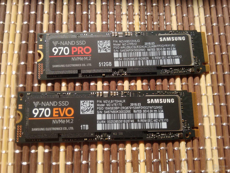 Samsung 970 Pro und Evo