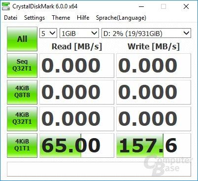 CrystalDiskMark: 970 Evo 4kiBQ1T1