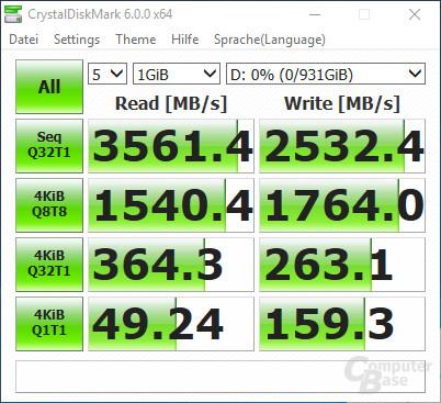 CrystalDiskMark: 970 Evo leer