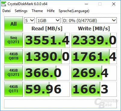 CrystalDiskMark: 970 Pro leer