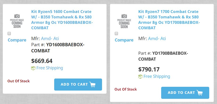 Händler preisen AMD Combat Bundle bereits an