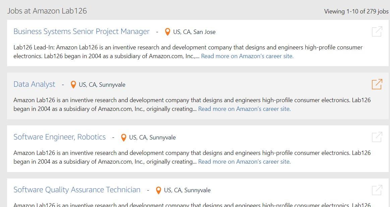 Amazons Lab126 sucht Software-Ingenieure im Bereich Robotik