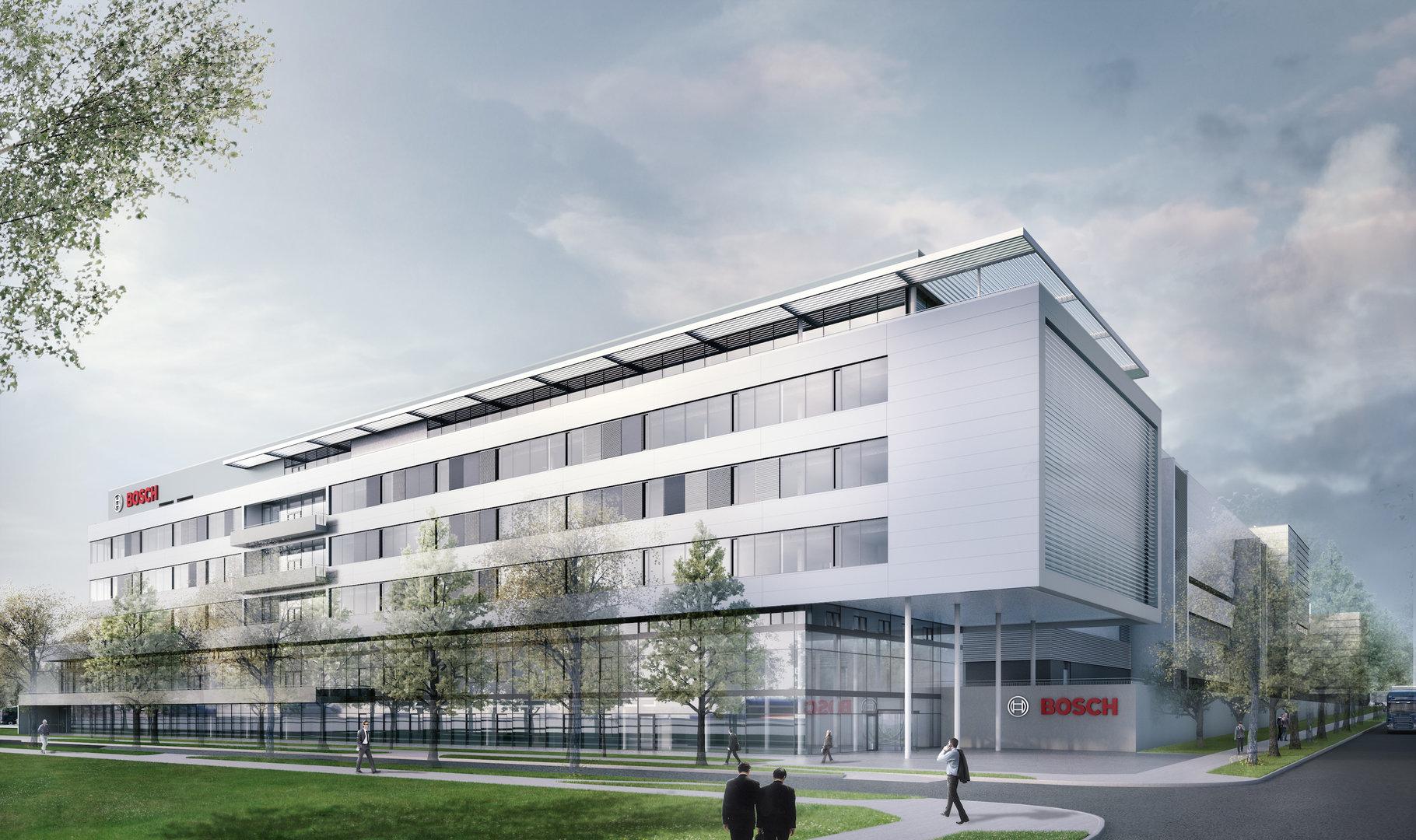 Entwurf zur neuen Halbleiterfabrik von Bosch