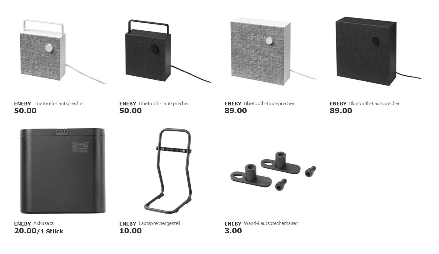 Preise für Ikea Eneby in Deutschland
