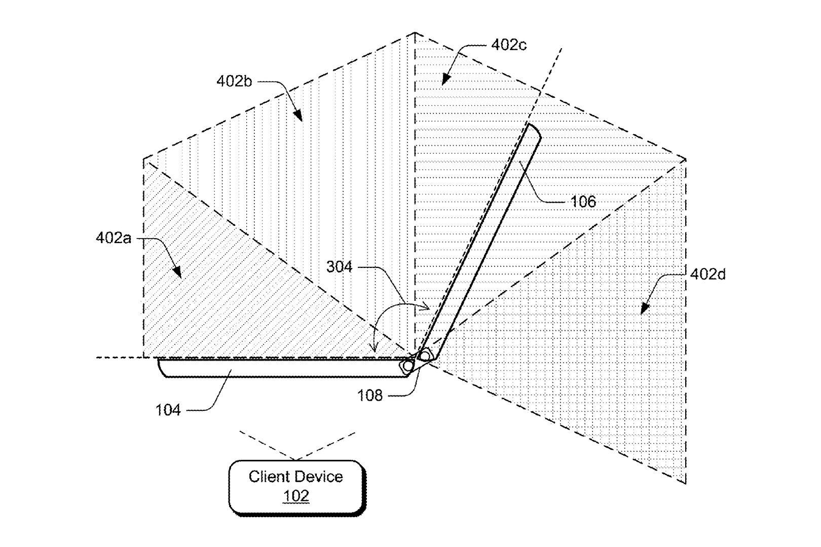 Patent beschreibt verschiedene Positionen des Scharniers