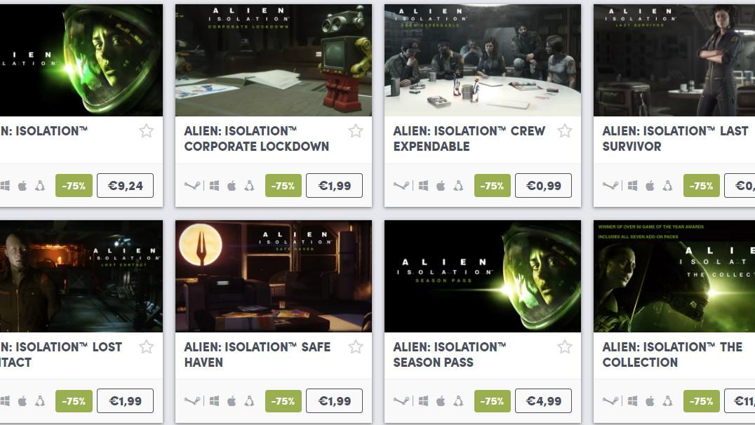 Alien Day Sale: Humble Bundle senkt Alien-Titel um 75 % im Preis