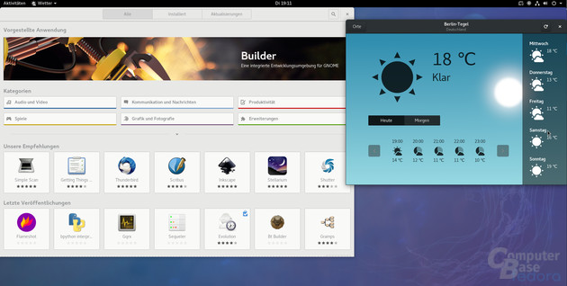 Gnome Software und Wetter