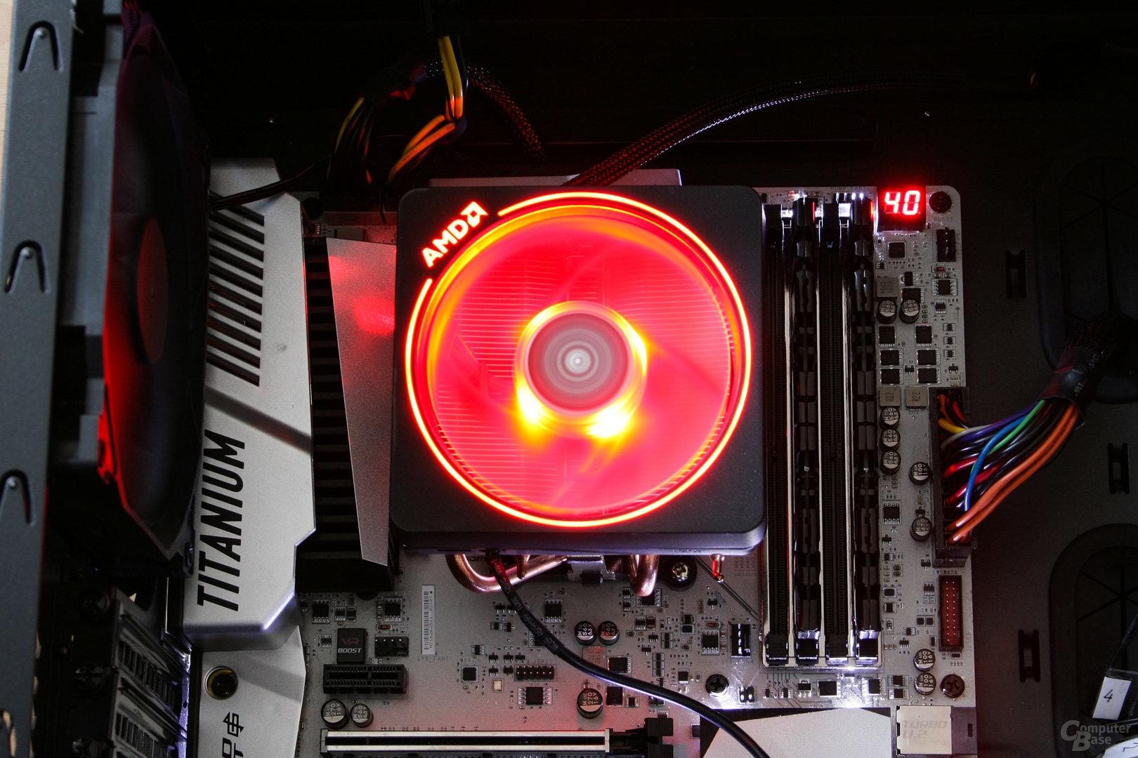 AMD Wraith Prism: Komplett in Rot beleuchtet