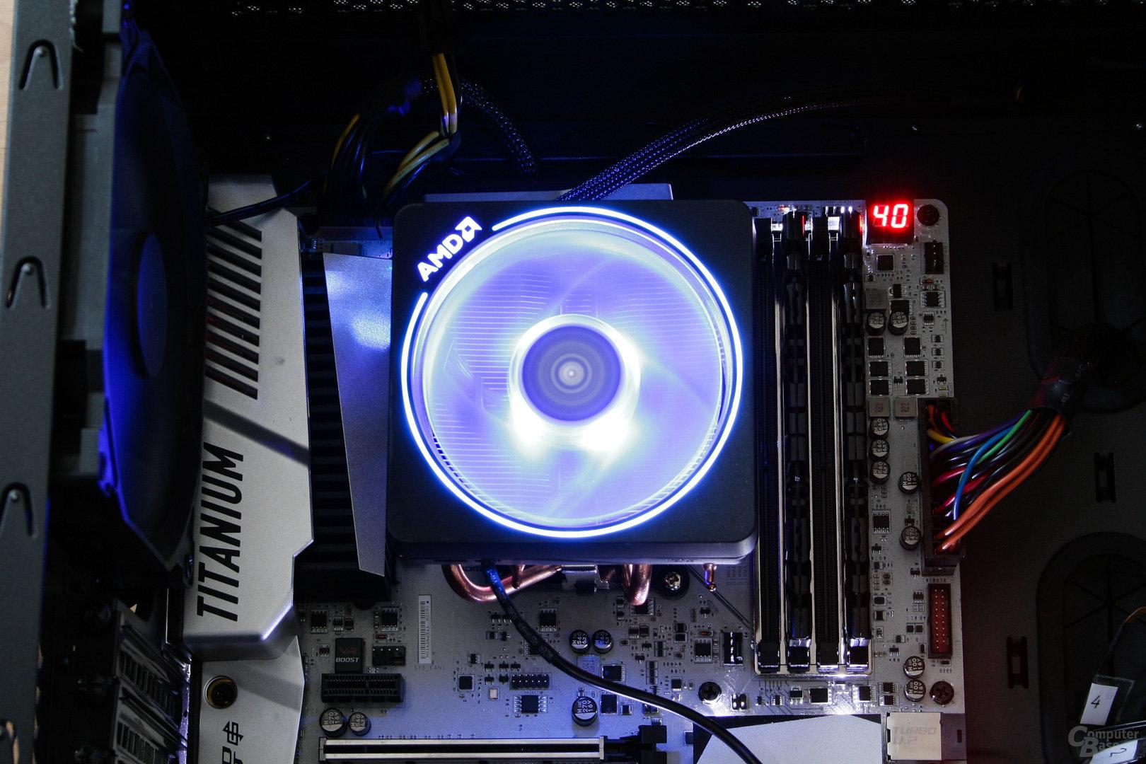 AMD Wraith Prism: Komplett in Blau beleuchtet
