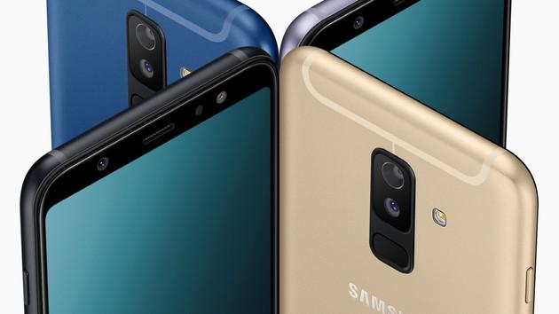 Samsung Galaxy A6 und A6+: Smartphone-Mittelklasse mit Selfie-Blitz und Dual-Kamera