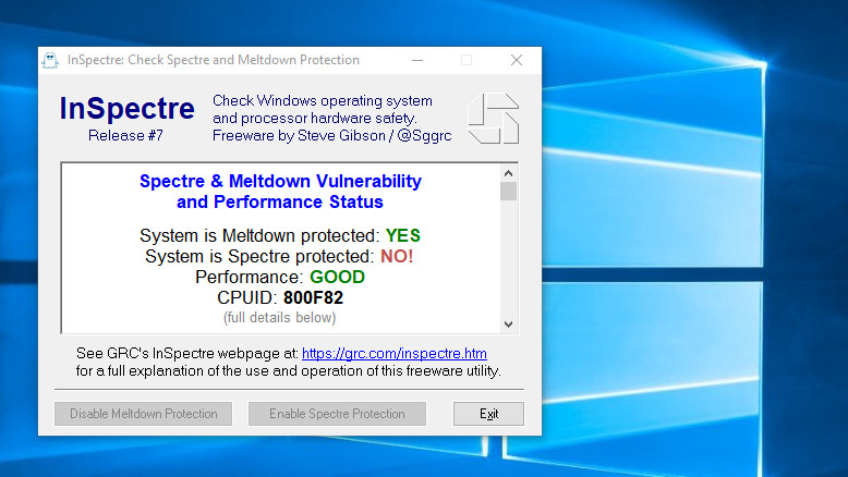 Windows 10: April 2018 Update noch ohne Microcode gegen Spectre