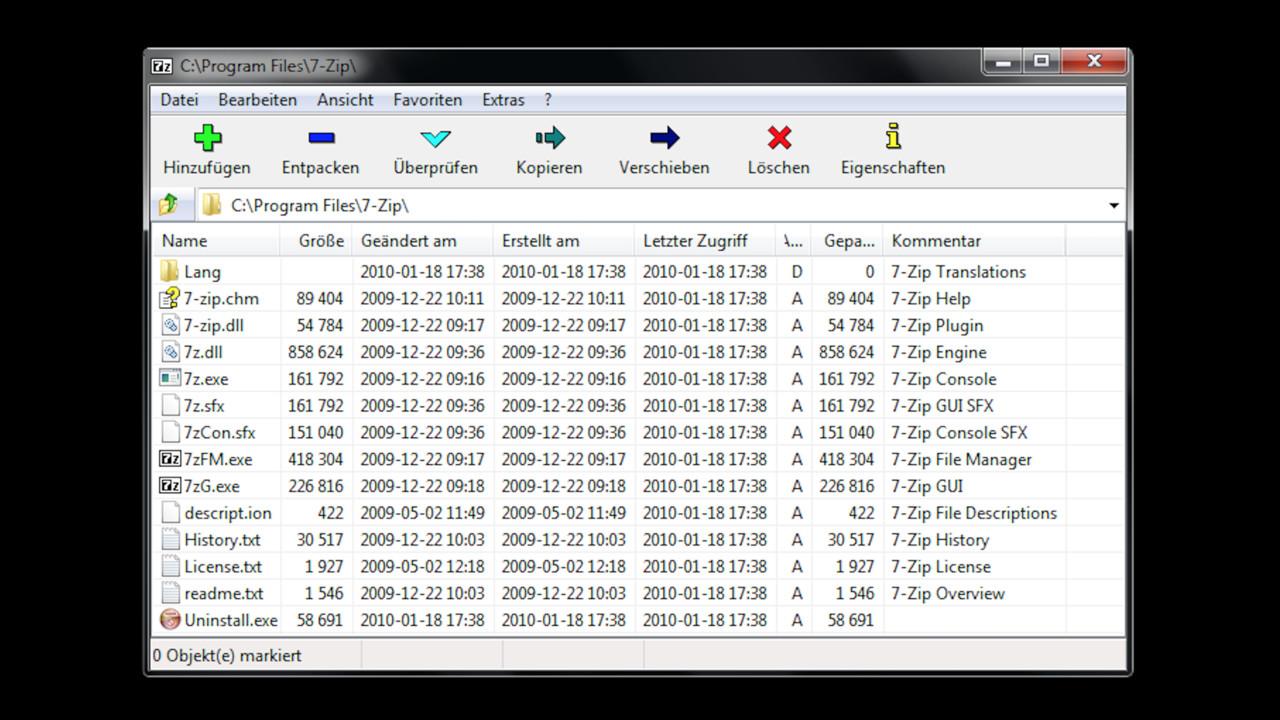 Packprogramm: 7-Zip vor Version 18.05 enthält eine schwere Sicherheitslücke